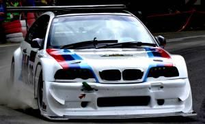Oklejenie BMW E46 do wyścigów górskich.